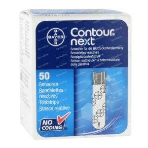 Ascensia Contour Next strips