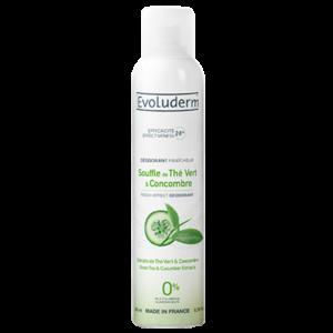 Evoluderm deodorant groene thee/komkommer 200 ml /stuk