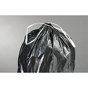 Vuilniszak+strop 70/100 LDPE 50 micron grijs